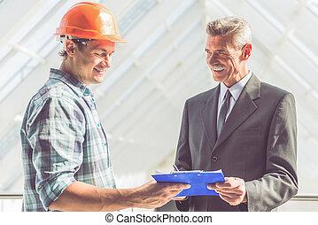 Industrie, bouwsector, werkmannen