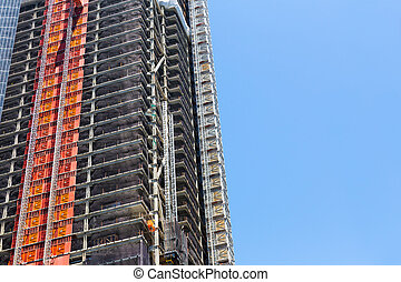 Industrie, bouwsector, wolkenkrabber
