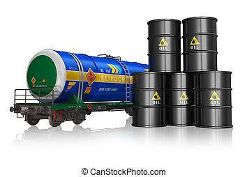 industrie, concept, essence, huile