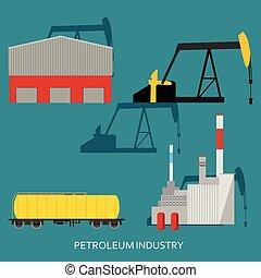 industrie, concept, pétrole