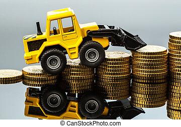 industrie construction, coûts, levée