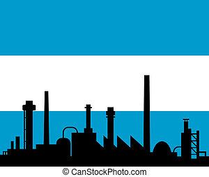industrie, drapeau, argentine