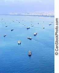 industrie, expédition, singapour