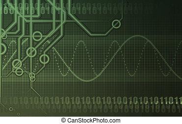 industrie, globale telecommunicaties, netwerk