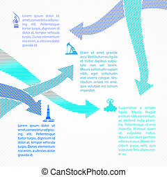industrie, infographic, huile, design.