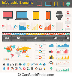 industrie, infographic, il, éléments
