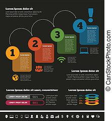 industrie, infographic, il, éléments