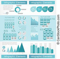 industrie, infographic, informatietechnologie, communie