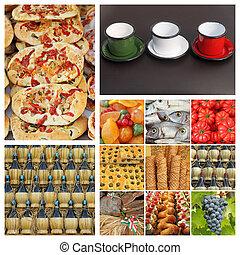 industrie, italien, composition, nourriture