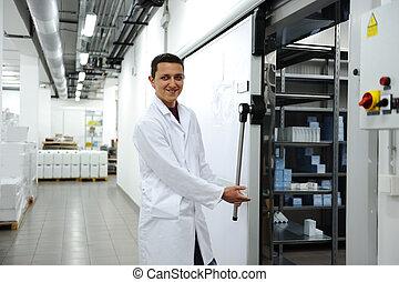 industrie, modern, kühlschrank