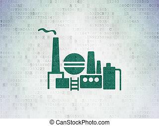 industrie pétrolière, essence, indusry, papier, fond, numérique, données, concept: