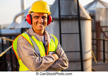 industrie pétrolière, ouvrier, chimique, age moyen