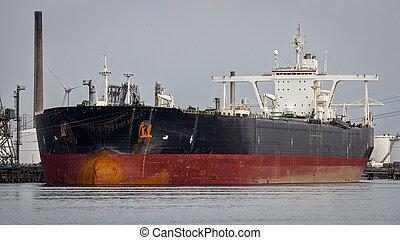 industrie, pétrolier, huile, expédition