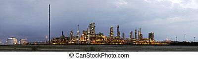 industrie, petrochemische stof, dageraad