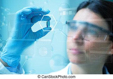 industrie, pharmaceutique, fond, concept