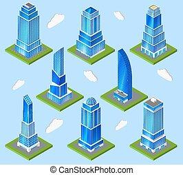 industrie, planification, bureau, élément