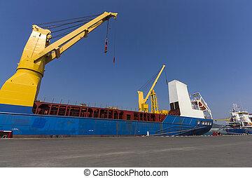 industrie, port, bateau