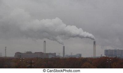 industrie, rauchwolken