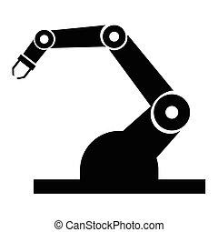 industrie, robot, icônes