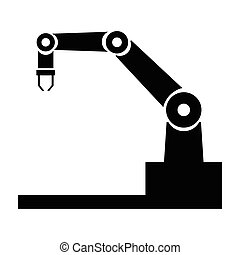 industrie, robot, iconen