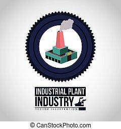 industrie, vecteur, conception, illustration.