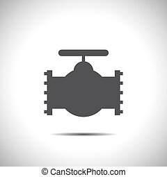 industrie, vector, klep, pictogram