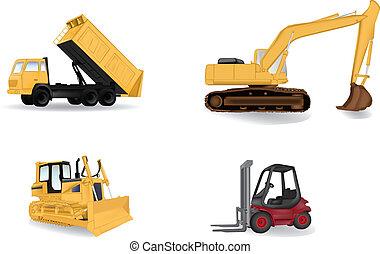 industrie, vector, machines