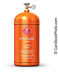 industrie, verflüssigt, wasserstoff, behälter, gas