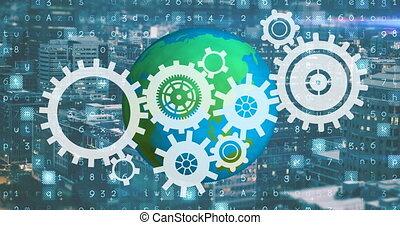 industriebedrijven, 4k, wereld, revolutie, moderne
