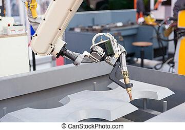 industriebedrijven, arm, lassen, robotachtig