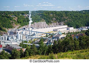 industriebedrijven, complex, fredriksten, noorwegen