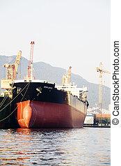 industriebedrijven, complex, in, korea