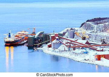 industriebedrijven, container, lading