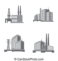 industriebedrijven, gebouwen