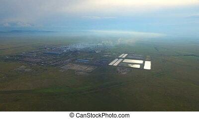 industriebedrijven, grit, aluminium, smelter, gebied, aldel,...
