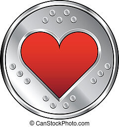 industriebedrijven, hart, pictogram