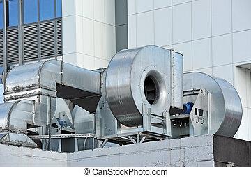 industriebedrijven, luchtverversing systeem