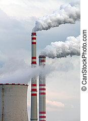 industriebedrijven, luchtvervuiling