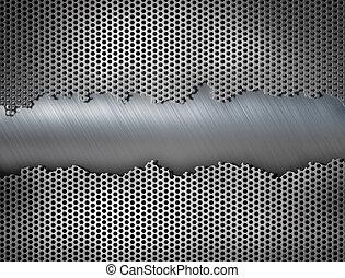industriebedrijven, metaal, illustratie, achtergrond, raspen, 3d