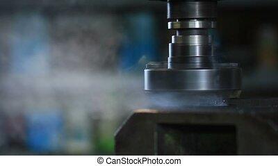 industriebedrijven, oud, frezen, metaal, machine, holle weg