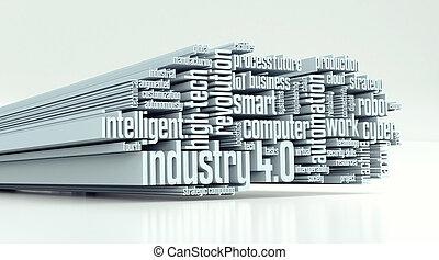 industriebereiche, begriff, 4.0