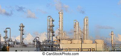 industriebereiche, schwer , raffinerie, fabrik, gut, pflanze