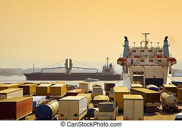 industriebereiche, und, handel