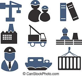 industriebereiche, zeichen & schilder