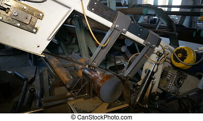 industrieel proces, metaal, detail, machining, holle weg, elektrisch, leeg, zaag