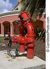 industrieel vuur, hydrant