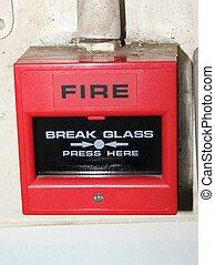 industrieel vuur, waarschuwing