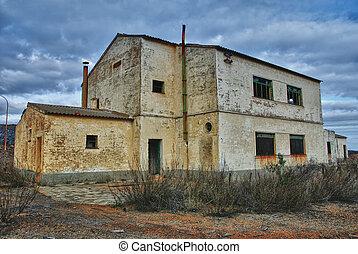 industriel, abandonnés, mine