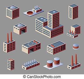 industriel, bâtiments