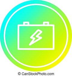 industriel, batterie, spectre, gradient, froid, circulaire